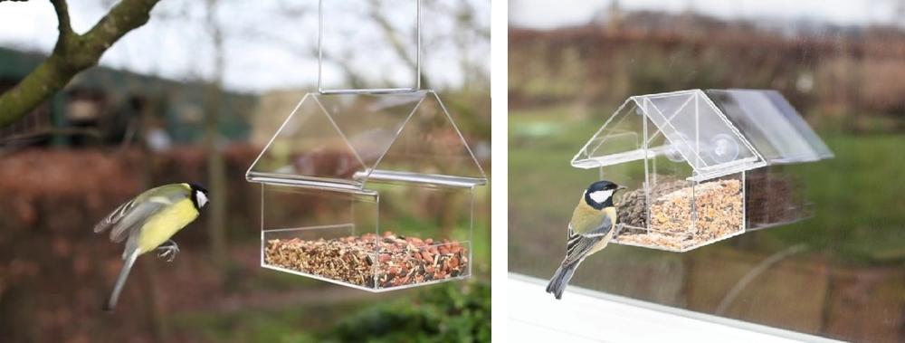 doorzichtig vogelhuisje