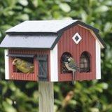 vogel voederhuisje op voet