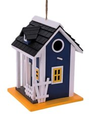 Vogelhuis villa donkerblauw