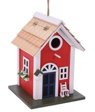 Vogelhuis villa rood