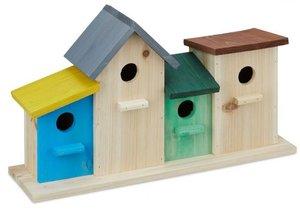 4 vogelhuisjes in rij