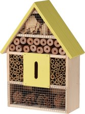Insectenhotel cottage 30cm geel/lime