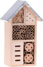 Insectenhotel hout metalen dak