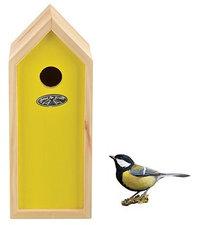 Vogelhuisje nestkast koolmees geel