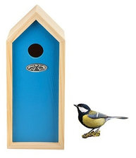 Vogelhuisje nestkast koolmees blauw