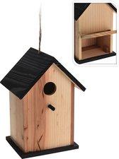Vogelhuisje met zwart dakje