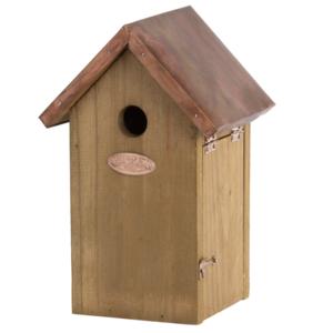 vogelhuisje voor mezen koper dak