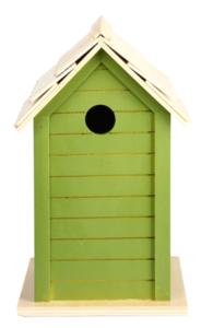 nestkastje lichtgroen vogelhuis