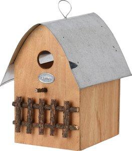 vogelhuisje zinken dakje