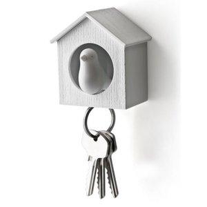 Qualy sleutelkastje vogelhuisje wit/wit